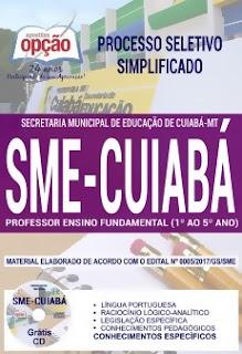 Apostila Concurso SME Cuiabá 2018 Professor Ensino Fundamental