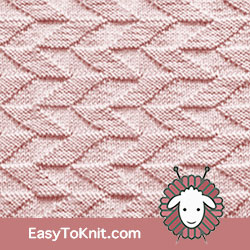 Knit Purl 51: Parallelogram | Easy to knit #knittingstitches #knitpurl