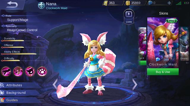 Skill Kutukan Nana Tidak Berlaku Untuk Hero Mobile Legends Ini