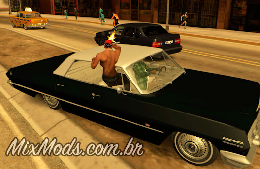gta sa mod atirar de dentro do carro gangue grove dirige