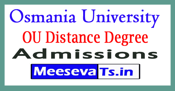 Osmania University Distance Degree Admissions 2017