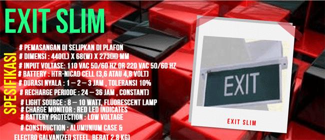 Spesifikasi dan Feature Exit Slim Emergency Exit Lamp