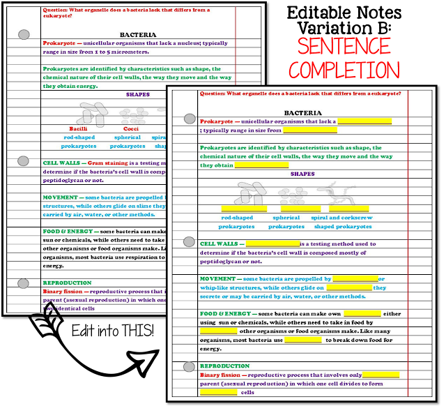 editable notes; editable resources; nitty gritty science