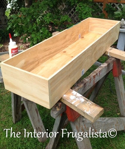 Building water trough for DIY Outdoor Water Wall