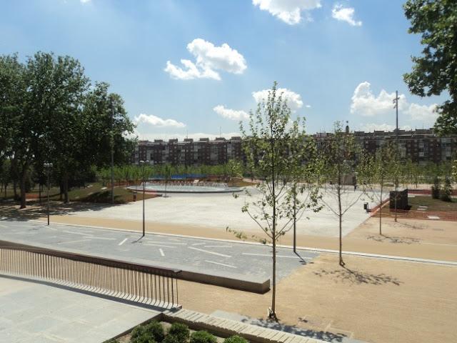 Así es la nueva playa de la Arganzuela. La playa de Madrid Río.