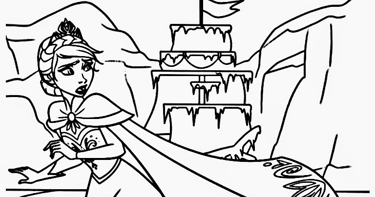 Frozen Ice Palace Coloring Coloring Pages