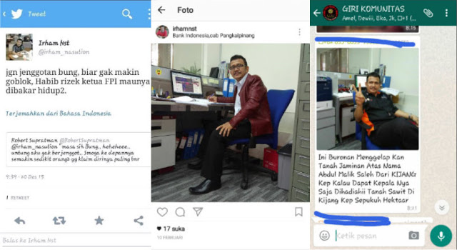 Pengen Terkenal, Pegawai Bank Indonesia Ancam Bakar Habib Rizieq Shihab