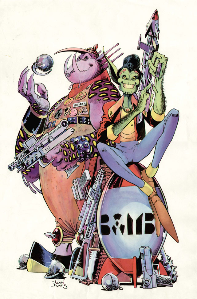 D.R. & Quinch drawn by Alan Davis