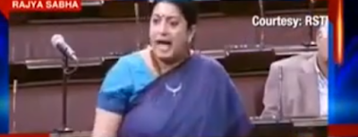 On the first day of the Budget session of Rajya Sabha, the highlight of the debate was the angry exchange between BSP boss Mayawati and Union HRD Minister Smriti Irani.  The topic of contention was Hyderabad university student Rohith Vemula's suicide.  Smriti Irani got a little dramatic and asked Mayawati not to play politics over a dead child's body. She even offered to cut off her head and lay it on Mayawati's feet.