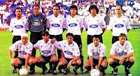 VALENCIA C. F. - Valencia, España - Temporada 1996-97 - Patxi Ferreira, Zubizarreta, Poyatos, José Ignacio, Iván Campo y Fernando; Vlaovic, Javi Navarro, Sietes, Moya y Karpin - R. C. D. ESPAÑOL DE BARCELONA 3 (Ouedéc, Pralija y Cobos), VALENCIA 2 (Vlaovic e Iván Campo) - 21/06/1997 - Liga de 1ª División, jornada 42 - Barcelona, estadio de Sarriá - El VALENCIA se clasificó 10º en la Liga, con Luis Aragonés, Rielo y Valdano de entrenadores