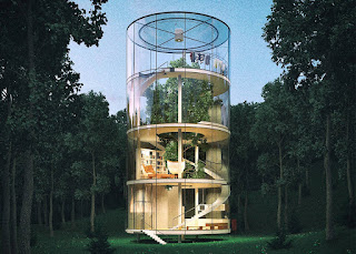 Tubular tree house