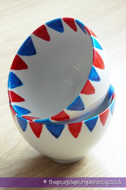 Diamond Jubilee Hand Painted Crockery Bowls