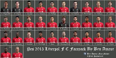Pes 2013 Liverpol FC Facepack By Ben Ameur