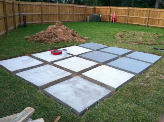 A Roll-Acosta Life: DIY: Back Yard Patio - Part 3 on Concrete Slab Backyard Ideas id=19172