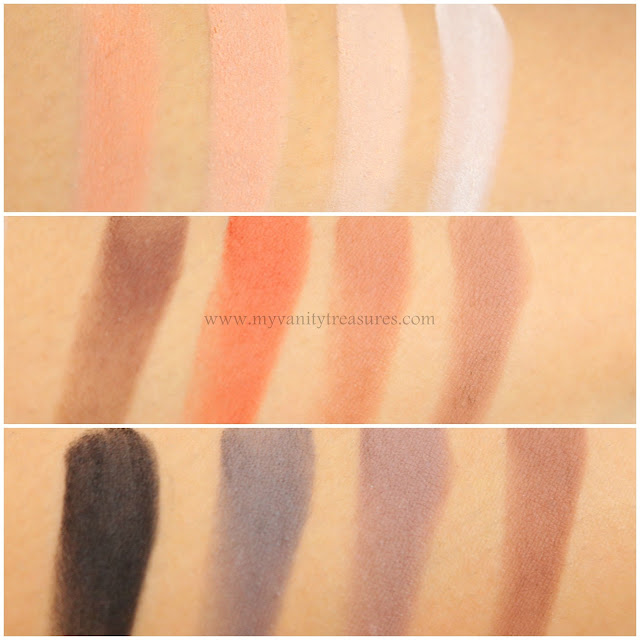 viseart neutral matte palette swatches
