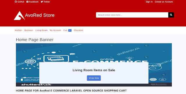 (Laravel) Source Code Laravel Avored Ecommerce Free
