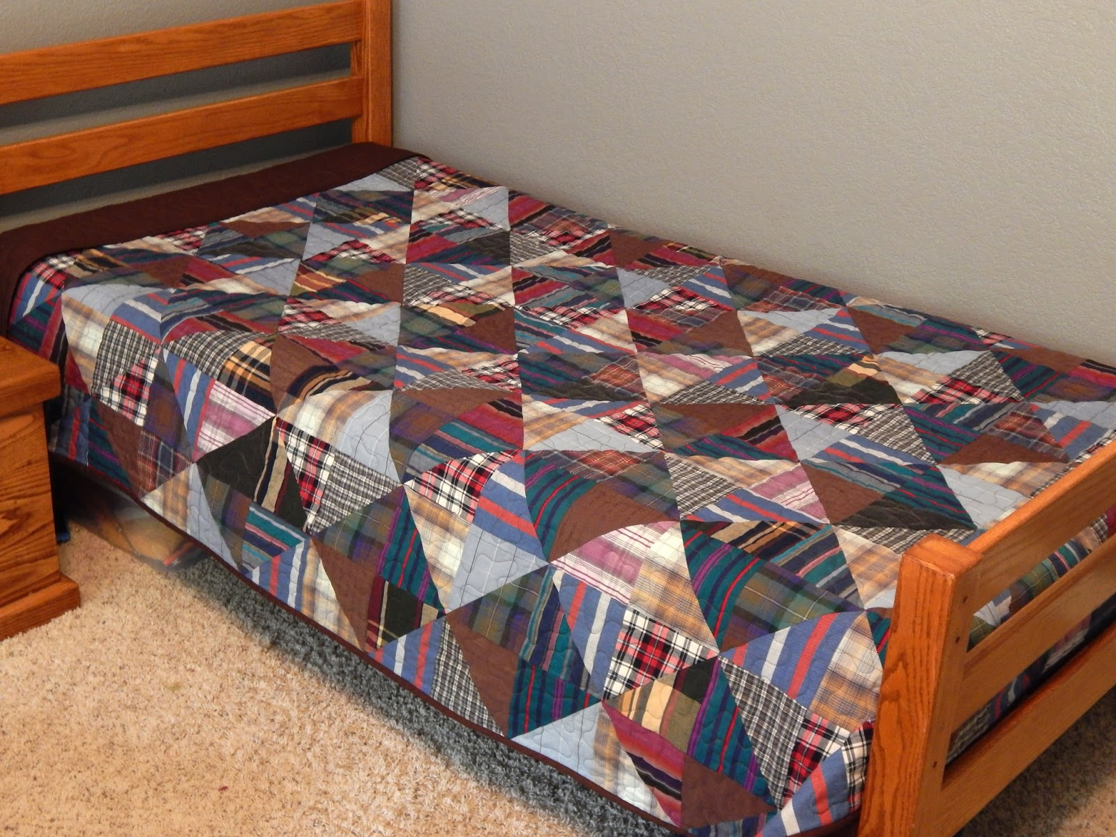 The Fleming S Nine Custom Memory Quilt From Men S Shirts