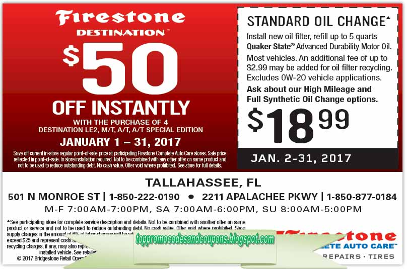 Free Promo Codes And Coupons 2019 Firestone Coupons
