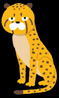 チーターのイラスト(動物)