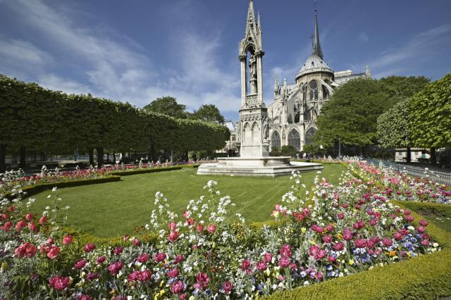 Parques de Paris em abril