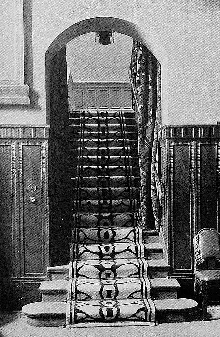 Hermann Billing stairs, a 1907 photograph