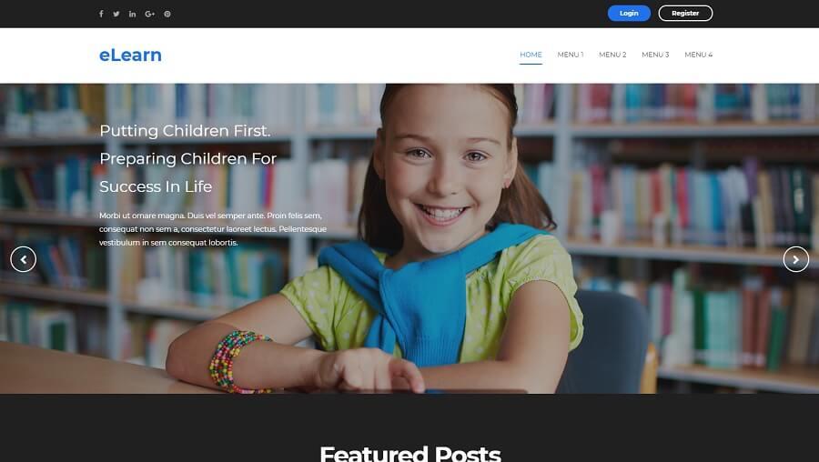 eLearn v3.0 - Responsive Education Blogger Template