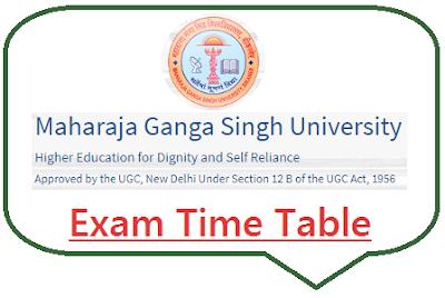 MGSU Bikaner Exam Time Table 2019