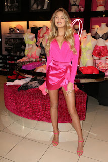 Romee Strijd at Victoria's Secret Celebrates Self-Love This Valentine's Day in LA