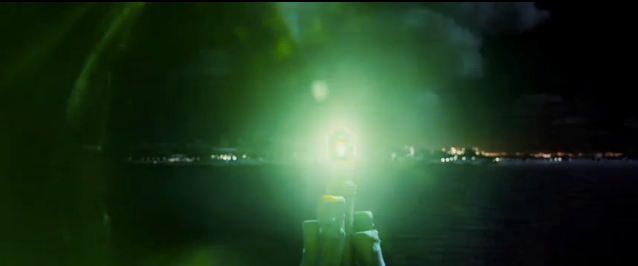 In chapter one of The Great Gatsby, what is the significance of the green light?
