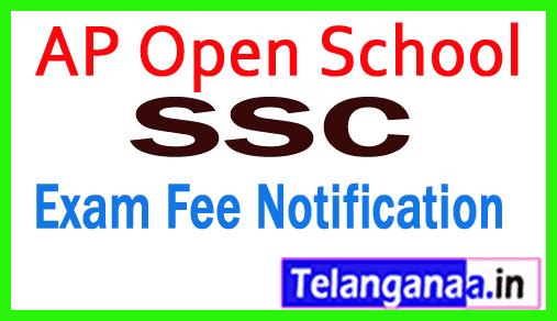 AP Open School SSC Examination Fee Notification