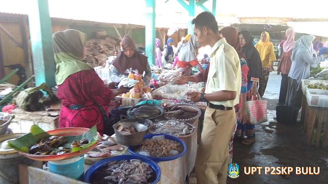 Giat Survei Harga Jual Ikan Harian UPT P2SKP Bulu di Pasar Layur