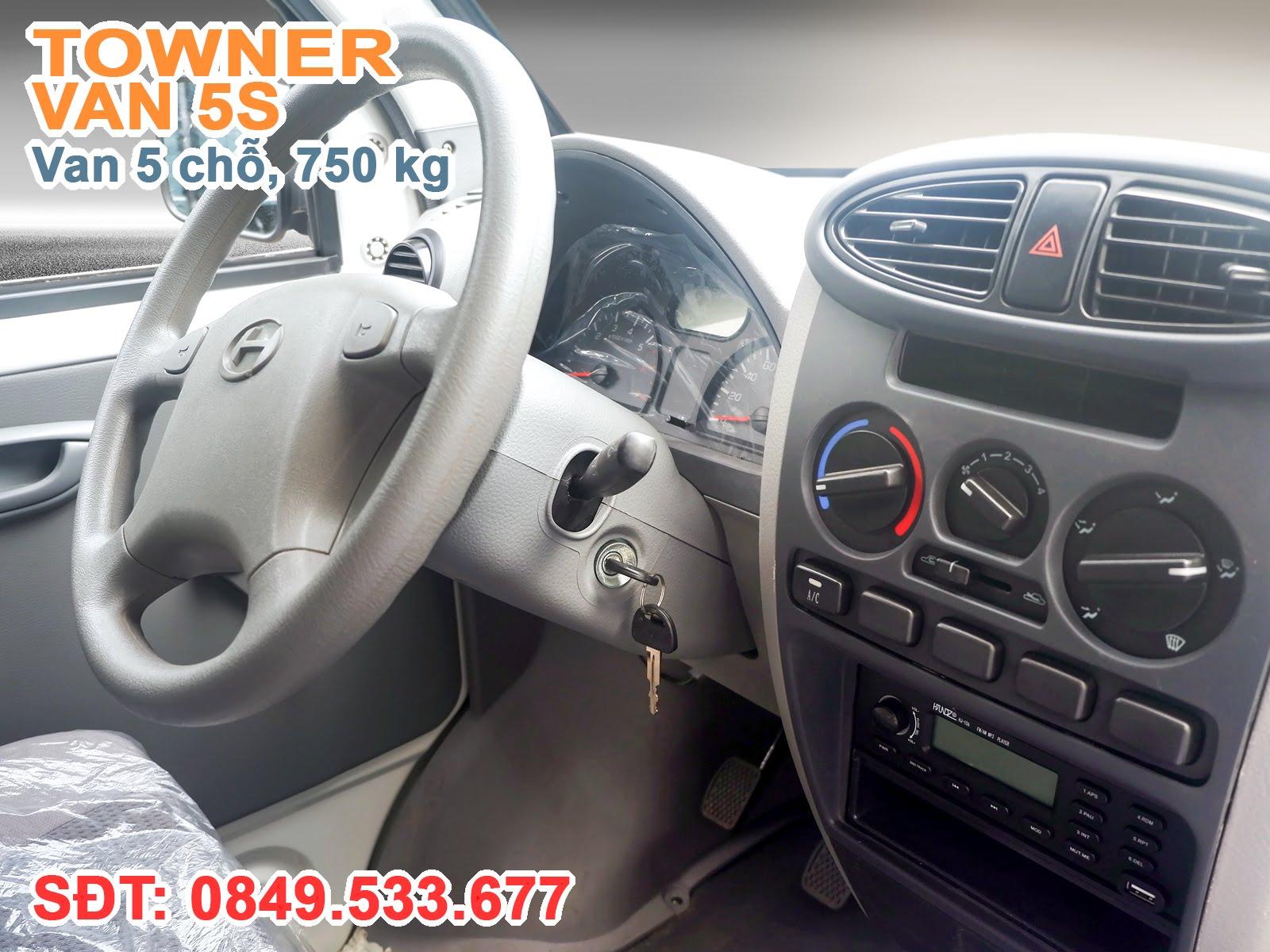 Xe Thaco Towner Van 5S được trang bị Hệ thống lái trợ lực điện (EPS)