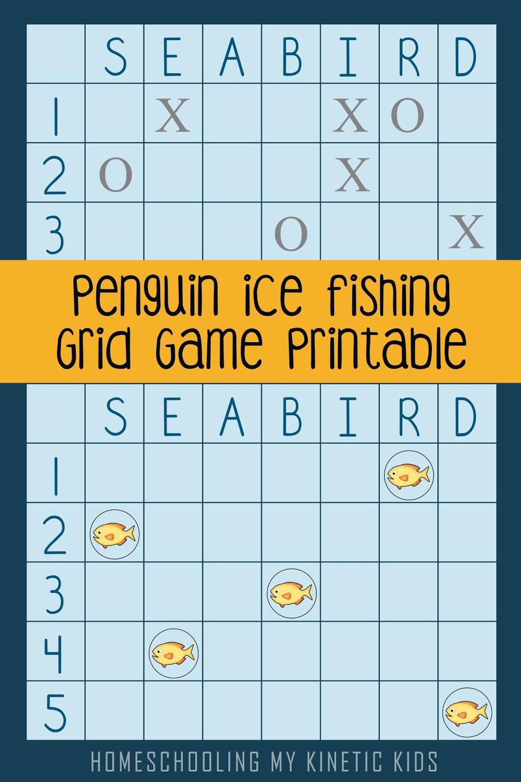 Penguin Grid Game Coordinates For Kindergartners