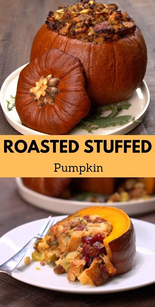 Roasted Stuffed Pumpkin