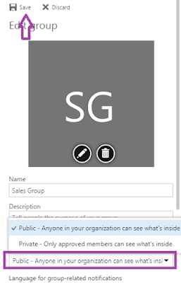 Convert Office 365 Group as Public or Private Outlook on the web