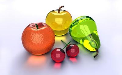 Gambar Buah 3D Anggur Apel Alpukat Buah-Buahan Wallpaper HD