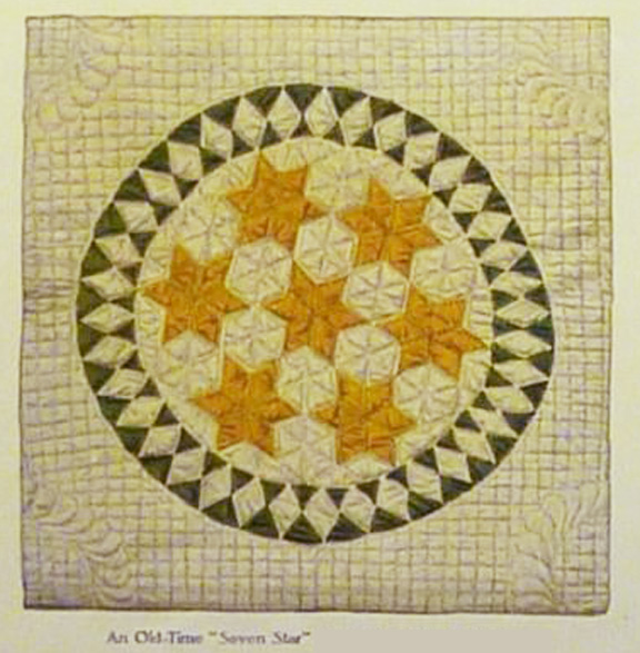 Cloud Of Quilt Patterns Seven Stars In A Circle