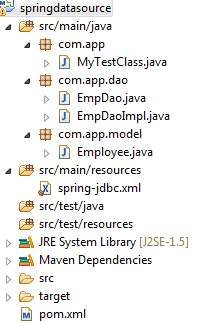 Spring: Data access with JDBC simple example