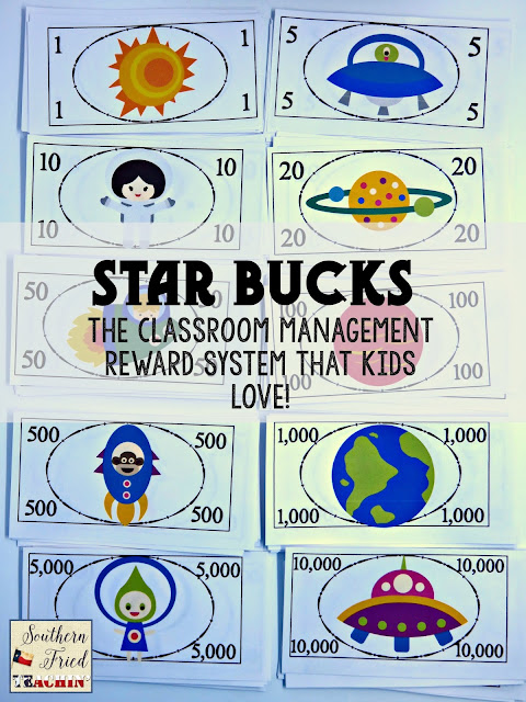 STAR Bucks in the classroom? You bet! Star Bucks are fun and easy classroom economy system that kids love. Great for behavior, homework, and participation. Reinforces place value and responsibility as well. Perfect for the home too!