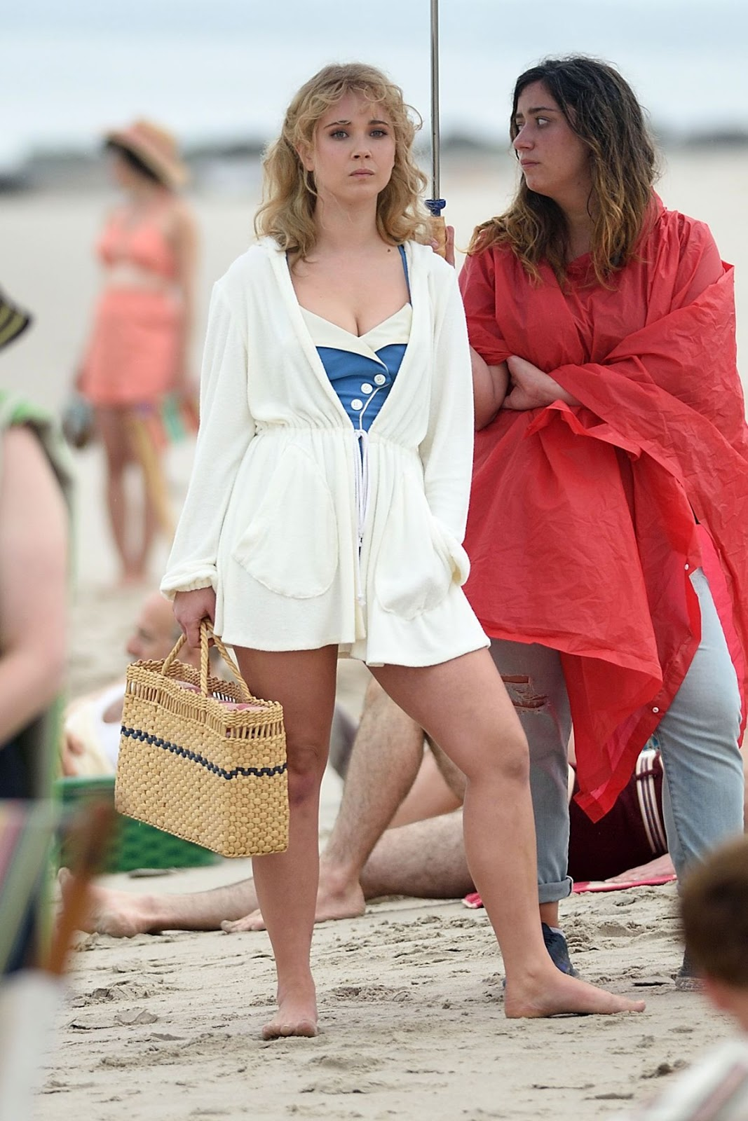 Juno Temple on the Set of Untitled Woody Allen Movie