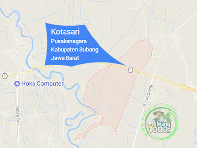 PETA : Desa Kotasari, Kecamatan Pusakanagara