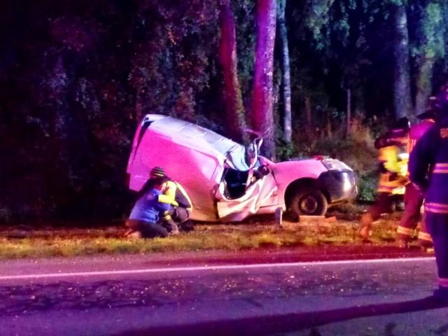 Accidente de tránsito en la Ruta U55 sector Pichil