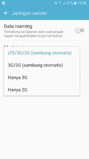 Pengaturan Cara Mengaktifkan 4G LTE Only di HP Android Samsung Galaxy J7