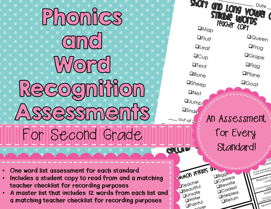 Worksheet Phonics Assessments thrifty thursday freebie mandys tips for teachers the first product is a set of word list assessment to assess every common core standard phonics and recognition strand in foundati