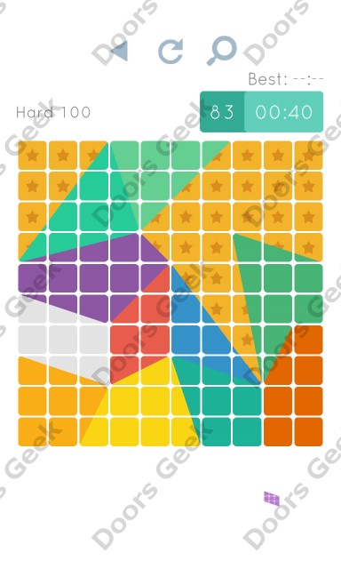 Cheats, Walkthrough for Blocks and Shapes Hard Level 100