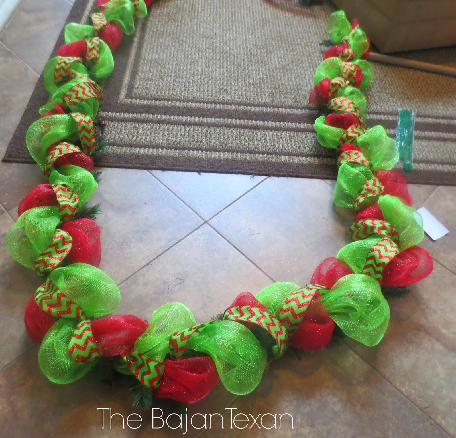 Diy Holiday Garland Using Deco Mesh Holiday Decor Series The