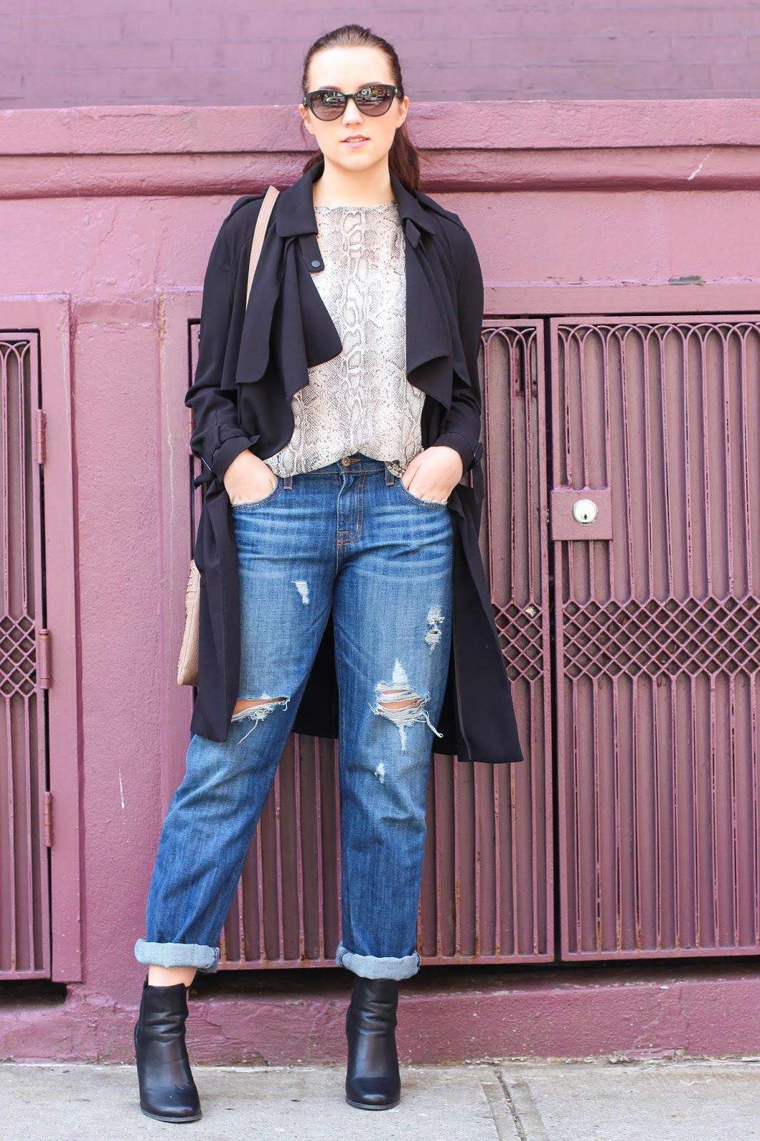 Beyond Brunette: Boyfriend Jeans & Statement Boots