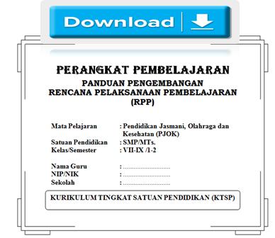 gambar RPP pjok atau penjas SMP KTSP Terbaru