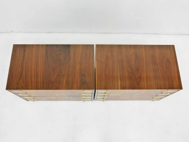 Renzo Rutili for Johnson Furniture Hollywood Regency Dresser Chests 3