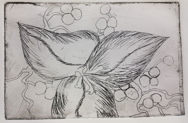 Photo of acrylic resist etching proof print